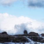 輪島冬の海